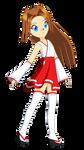 Chibi Ai Megami (Miko Outfit) by Studio-Mizuki