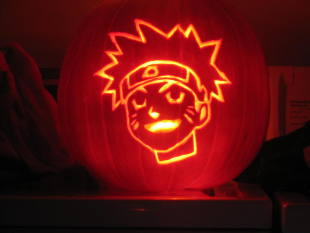 Naruto pumpkin by destinechaos on deviantart