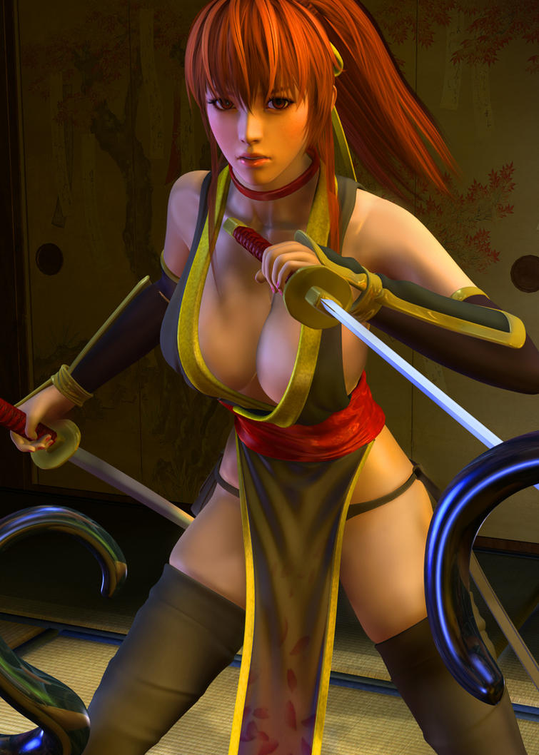 Kasumi vs Tentacles 1 by 3dbabes