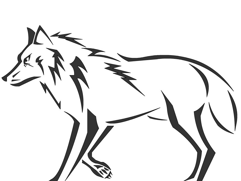 easy tribal wolf drawing - photo #24