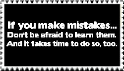 Learn your mistakes stamp