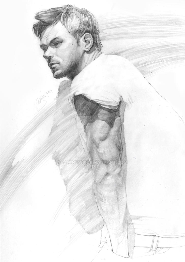 Figure Drawing Portrait 8 by AnAn5538