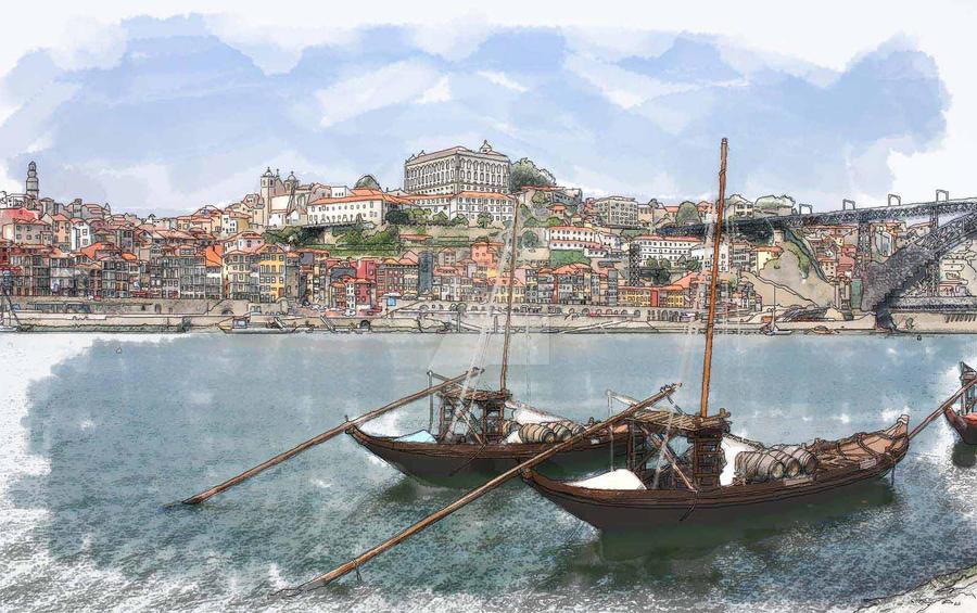 Oporto City - Portugal by akaPREDADOR