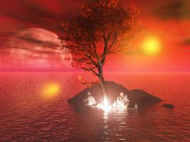 Red Ocean Scene by akaPREDADOR
