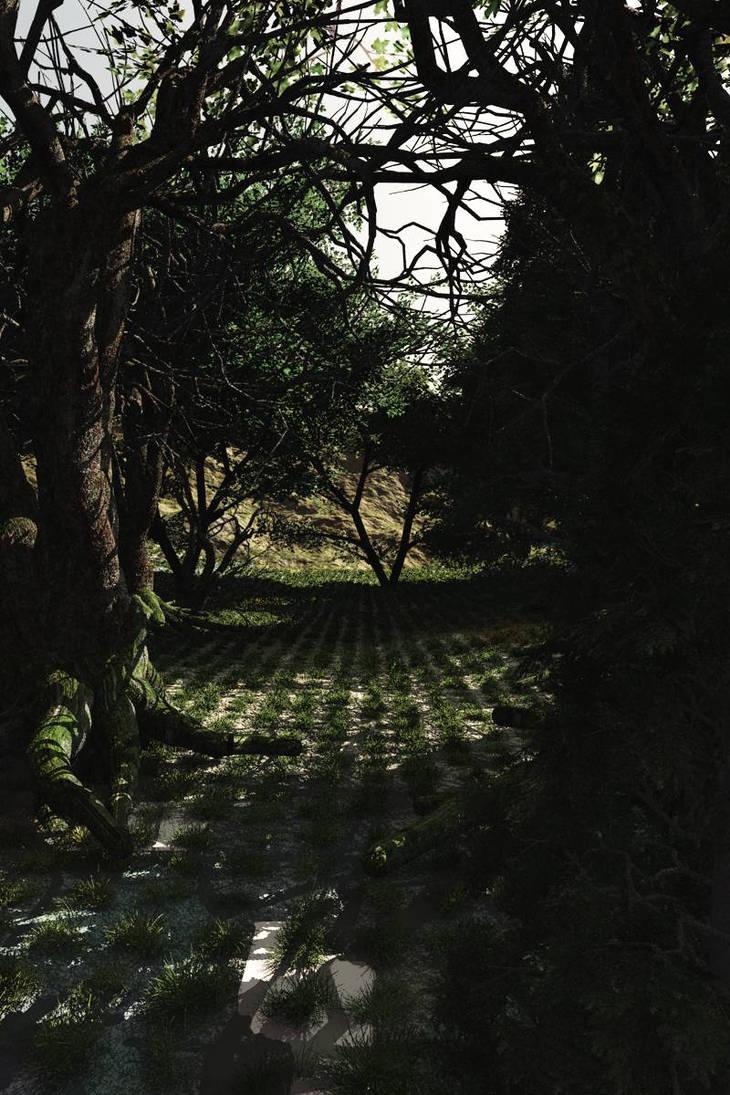 Dark Forest Path by akaPREDADOR