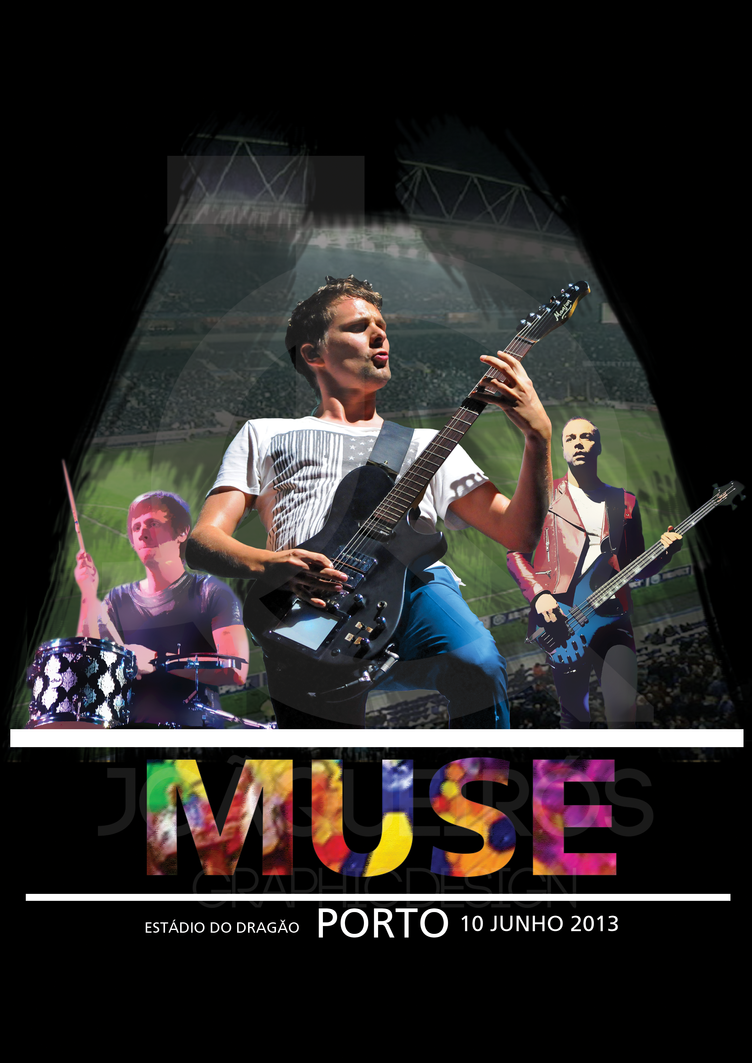 Tshirt Muse Black Estadio do Dragao by akaPREDADOR