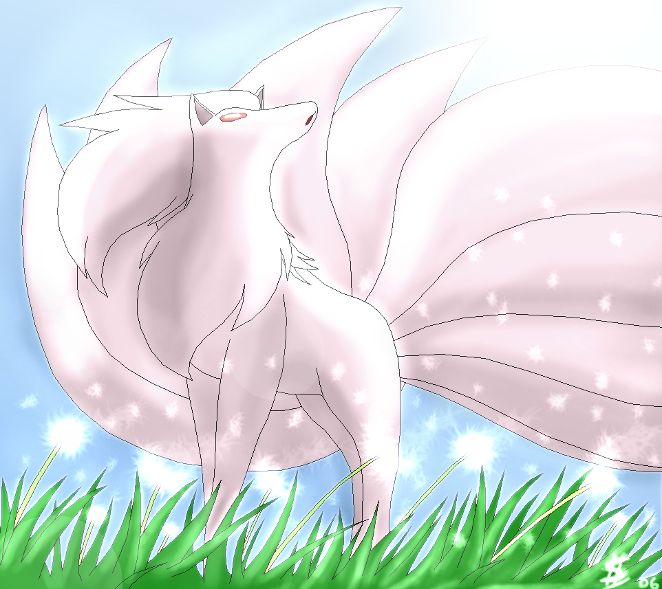 Shiny Ninetales by Ese...