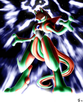 Deoxys infects Mewtwo.