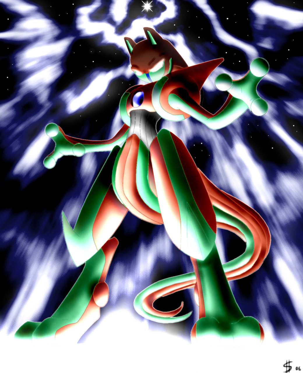 Deoxys infects Mewtwo by Esepibe - Sharenator.com