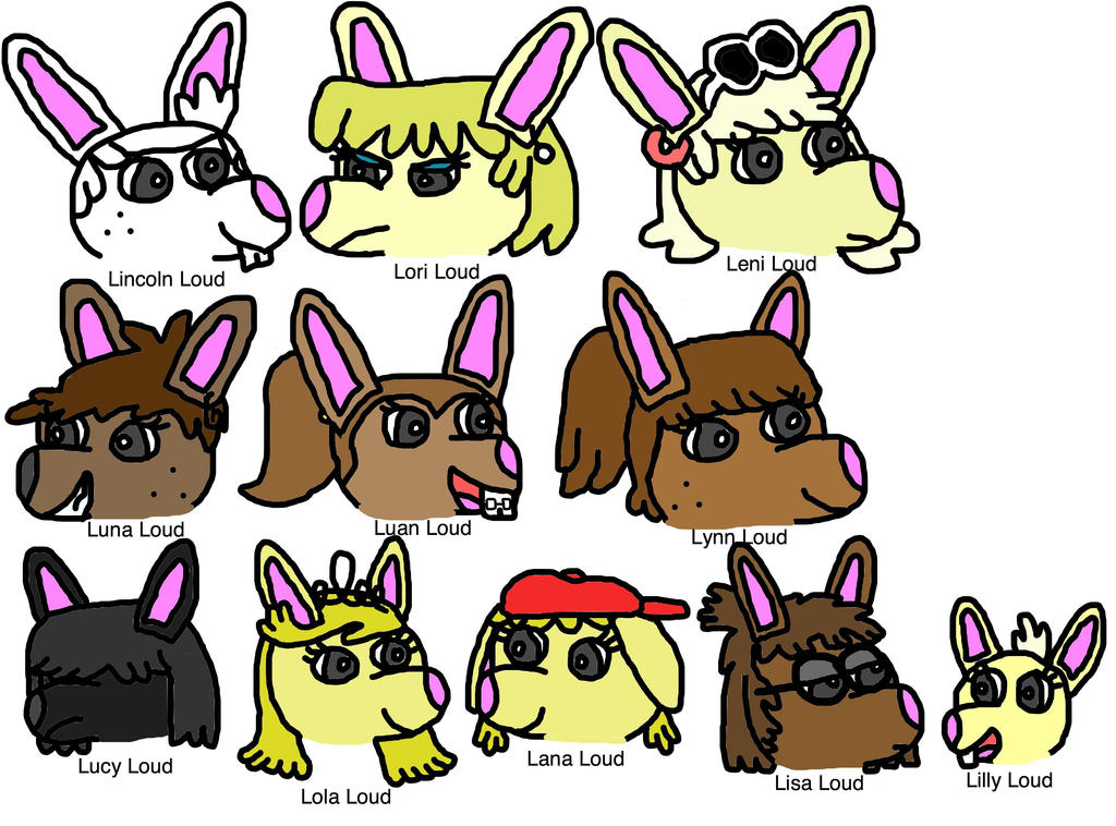 Dibujos De Una Tambora Y Guira: Loud House Characters By Riverracks Deviantart