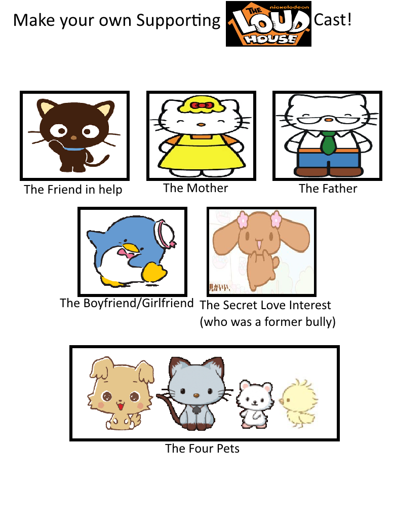 The sanrio house supporting cast by deecat98 on deviantart for Customize my own house