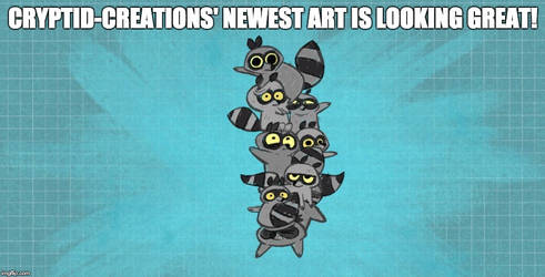 HSK version of Cryptid-Creations art Meme