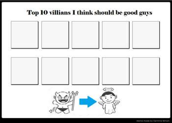 Top 10 Villains That Should Reform Meme (reupload) by DEEcat98