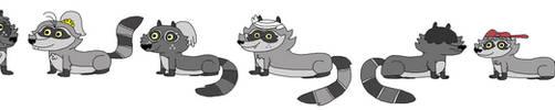 Loud Raccoons by DEEcat98