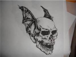 Death Bat- drawing by CHICANOCHOP