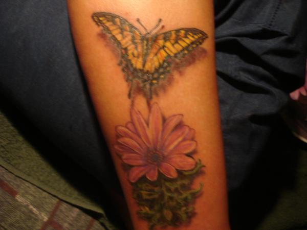 tiger butterfly tattoo. Tiger Butterfly Tattoo