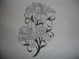 lily tattoo pattern by CHICANOCHOP