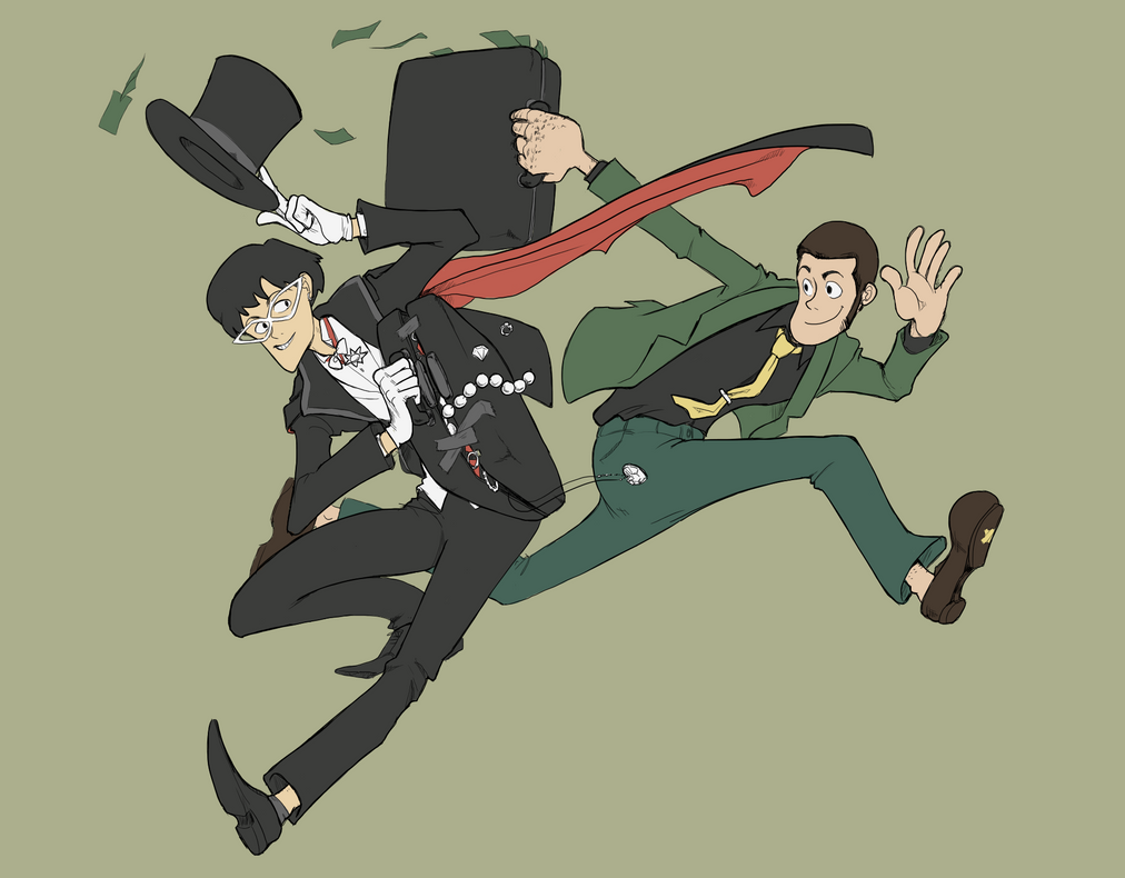 Lupin and Tuxedo by voracioussketching