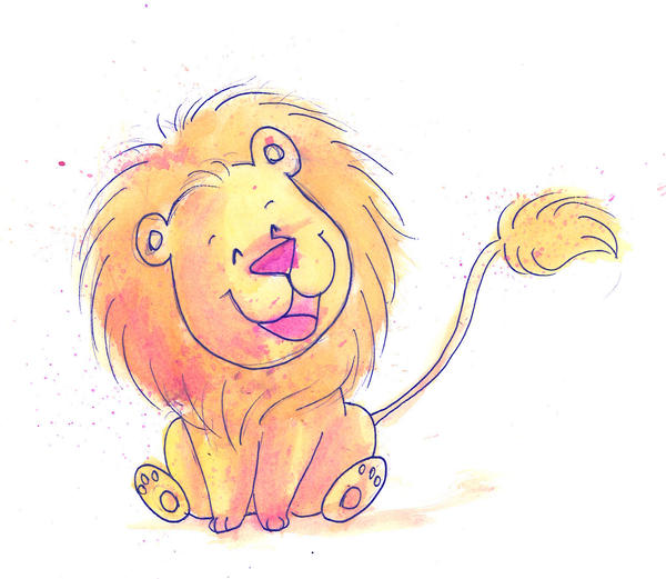 How to Draw a Cute Lion  Easy Pictures to Draw  YouTube