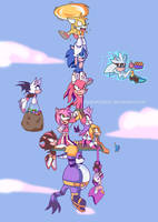 Sonic and Friends by HydroGothiC