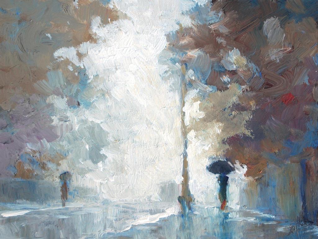Rainy Morning Street by litka