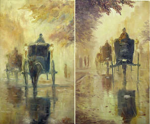 A set of Handsom Cab Paintings by litka