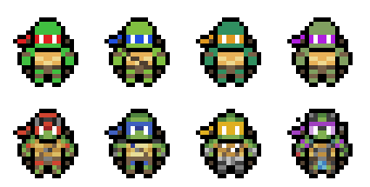 Teenage Mutant Ninja Turtles Sprites By Hazard House ...