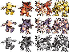 Digimon Devamp - Pokemon Red and Blue Style Sprite by Hazard-House