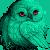 Teal Owl Icon for Ginnunga by Glad-Sad