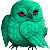 Teal Owl Icon for Ginnunga by Glad-Sad