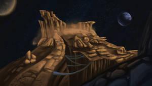 Mars hilltop