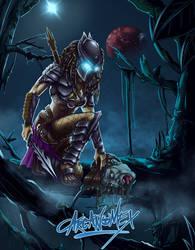 Huntress (Female Predator) by arcanumex