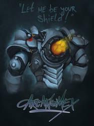 Reinhardt from overwatch  by arcanumex