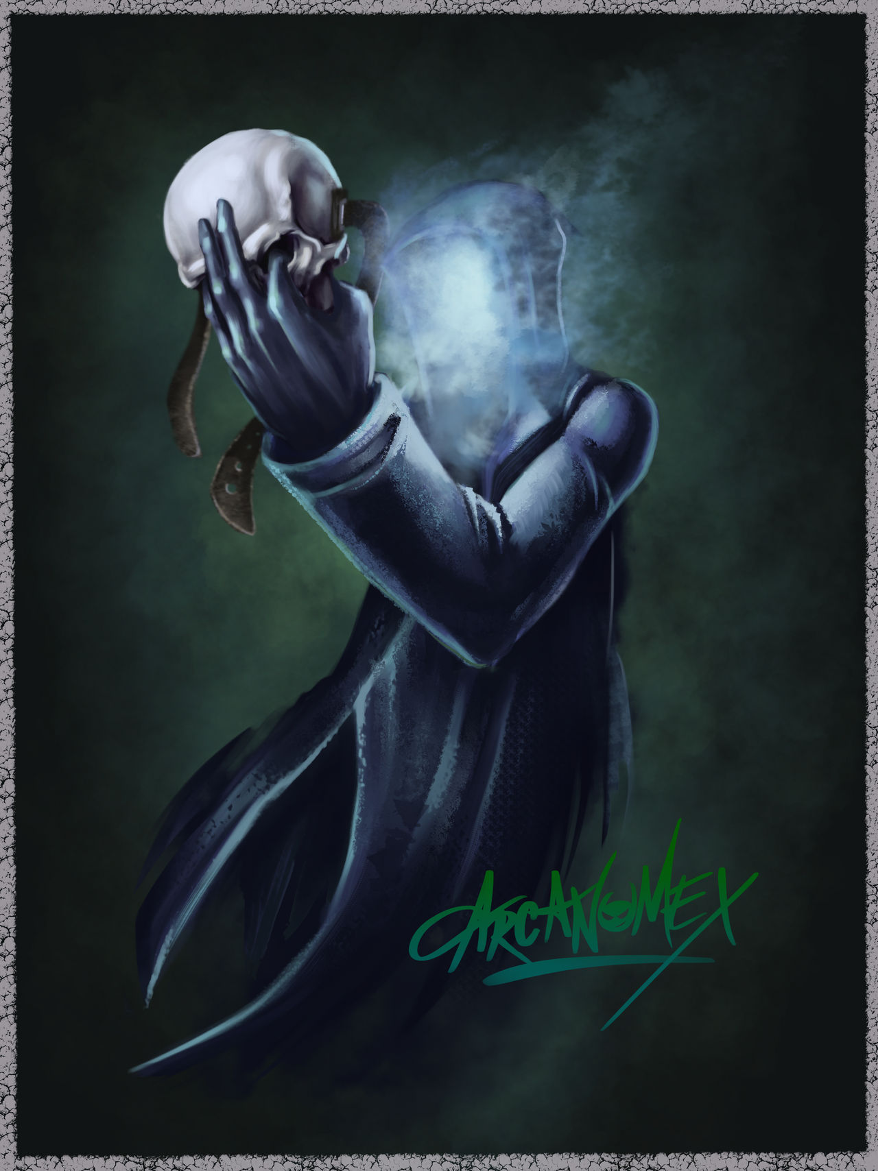 The mask of the Grim Reaper