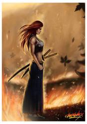 Samurai girl by arcanumex