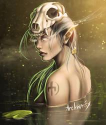 A dark Elf by arcanumex
