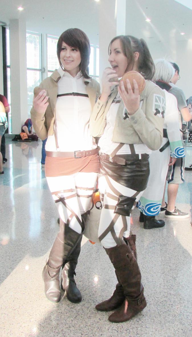Attack on titan potato girl cosplay