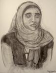 Woman Wearing Hijab by themizarkshow