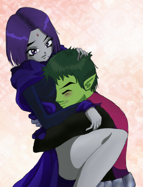 Beast Boy And Raven Love Raven Beast Boy by Magzo