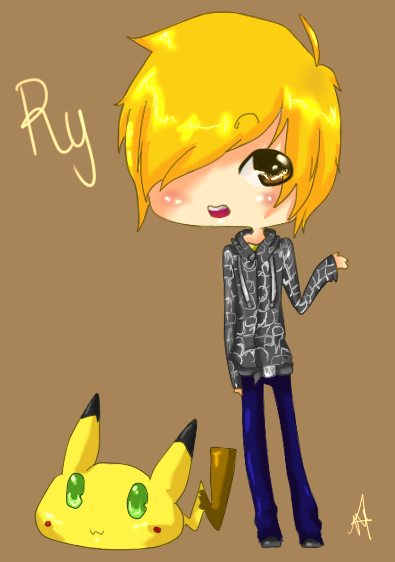 Ry with Chibi Chu by Michelle-Tran-Aka-MT