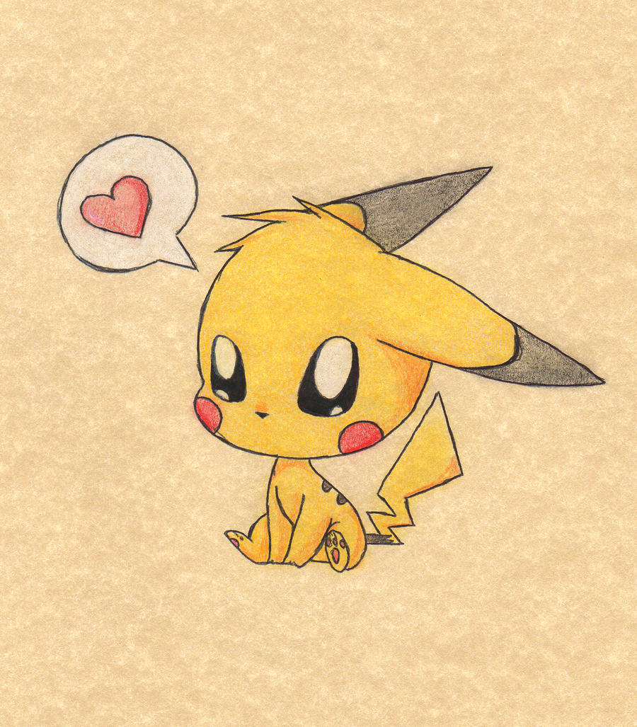 Cute pikachu couple drawings - Kawaii pikachu ...
