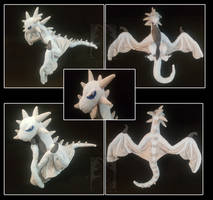 Dragon Wyverne big plush by Anais-thunder-pen