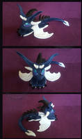 Blue ice dragon plush