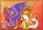 Two dragoness