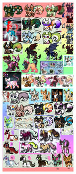 HUGE 55+ ADOPT SHEET .:OPEN:. - OFFER TO ADOPT by MEME---QUEEN