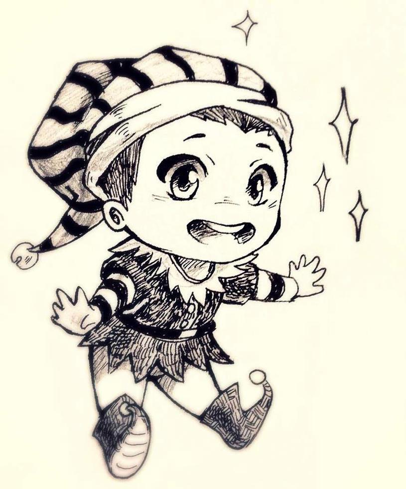 Chibi Elf Boy by NiriaAmethist