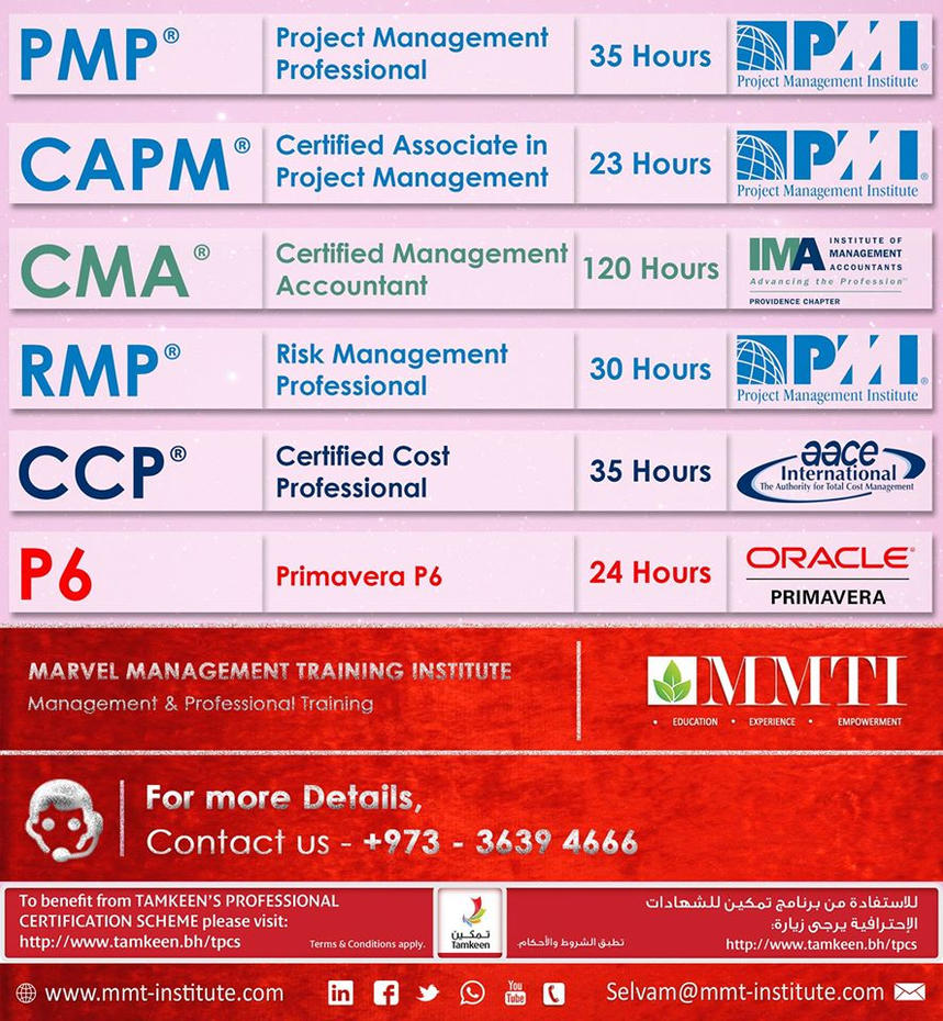 Pmp Certification Course In Qatar By Mmtinstitute On Deviantart