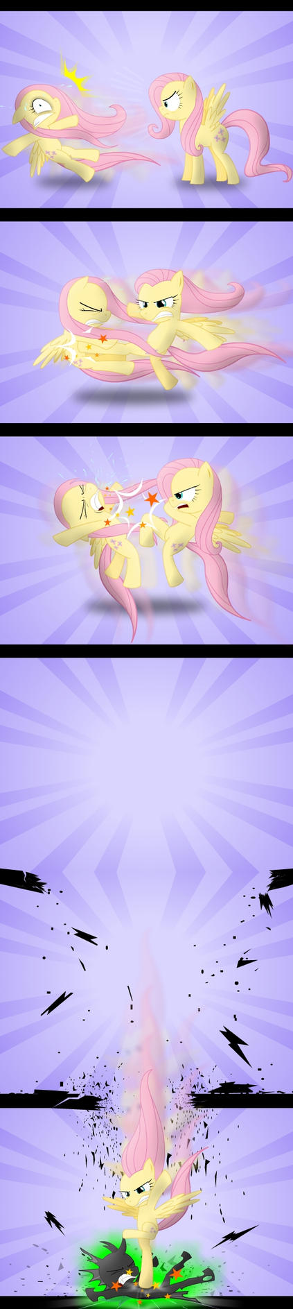 Kung Fu Fluttershy by GoneIn10Seconds