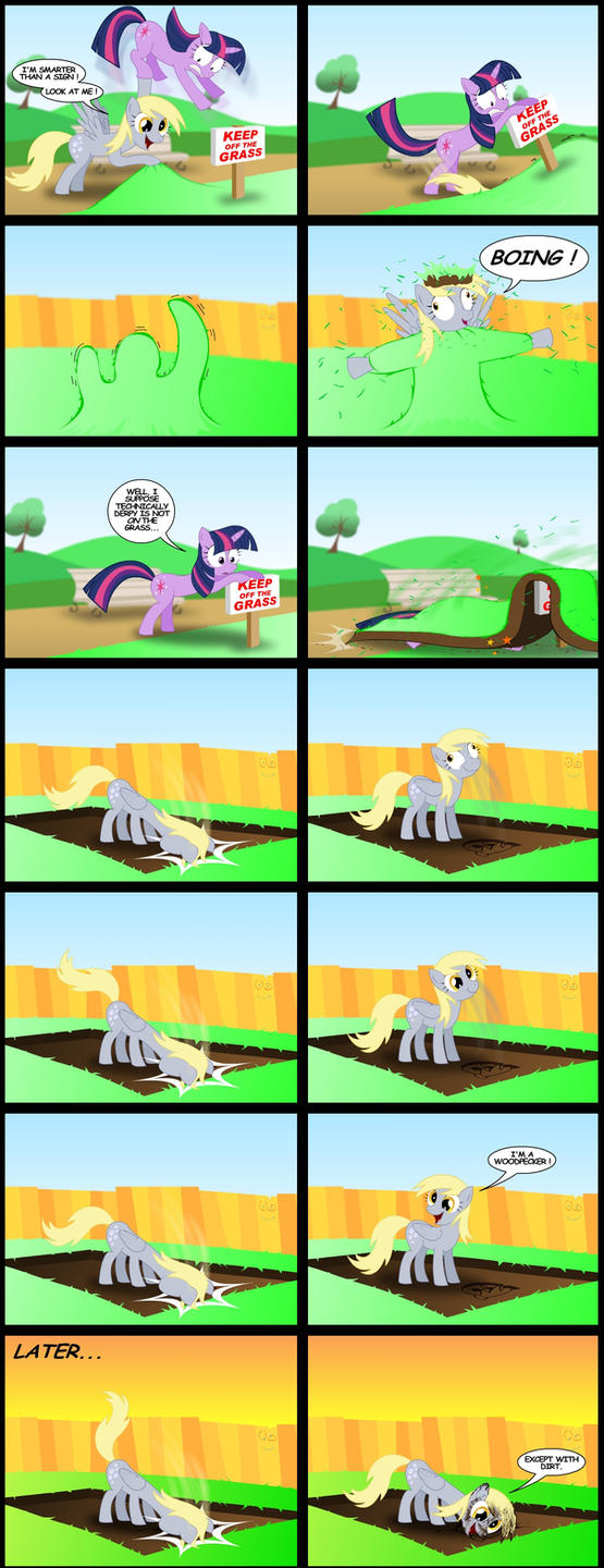 Derpy is a woodpecker by GoneIn10Seconds