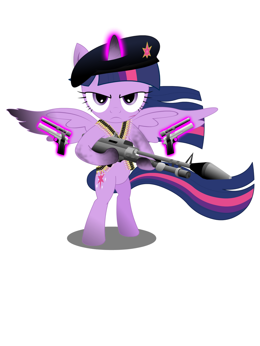 Gunner Twilight Sparkle (Shirt design) by GoneIn10Seconds